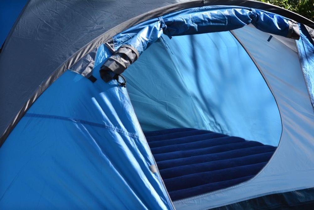tent built-in mattress
